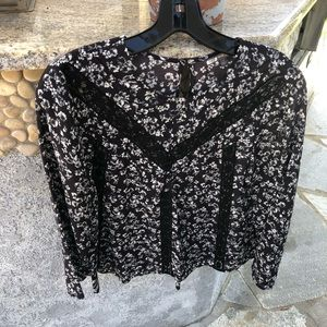 Lace floral top by Michael Stars